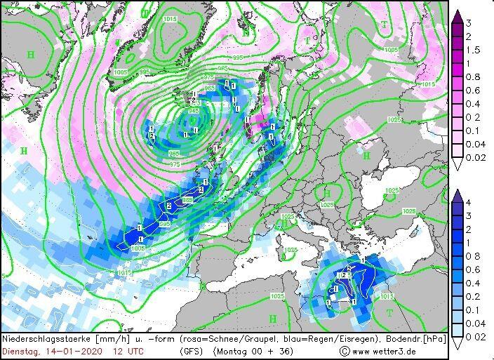 Карта погоди в Європі