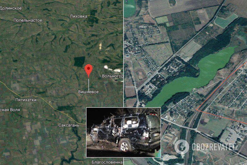 Авария произошла в поселке Вишневое Днепропетровской области  Внедорожник с людьми слетел в пруд. Никто не выжил
