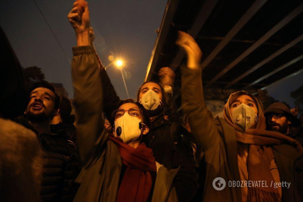 Протести в Тегерані, 11 січня