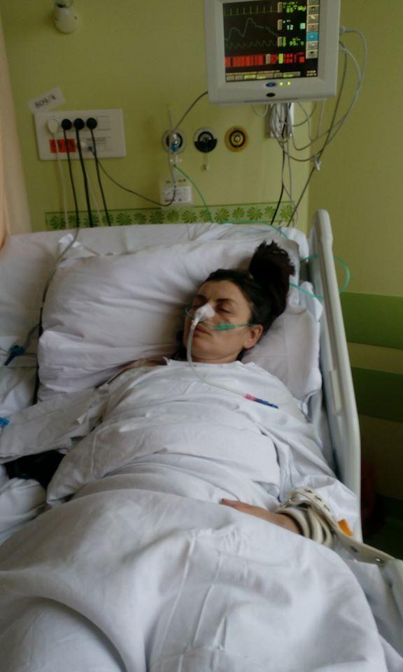 Оксана в больнице
