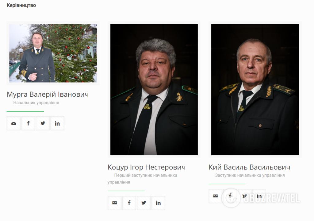 Руководство Закарпатского областного управления лесного и охотничьего хозяйства