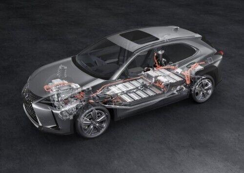 Питание для электродвигателя обеспечивает литий-ионная батарея емкостью 54,3 кВтч, расположенная под полом кроссовера