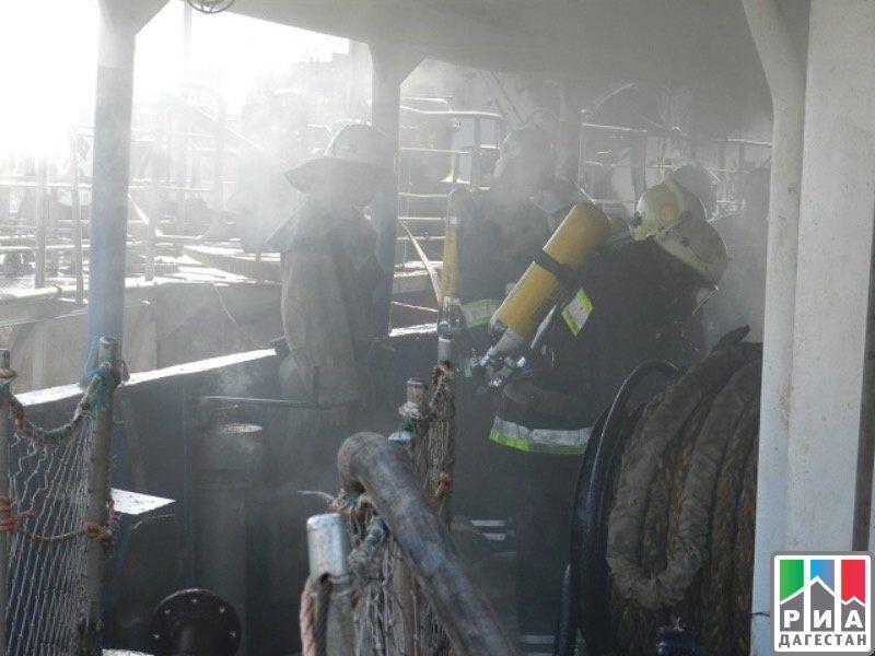 Пожар на сухогрузе