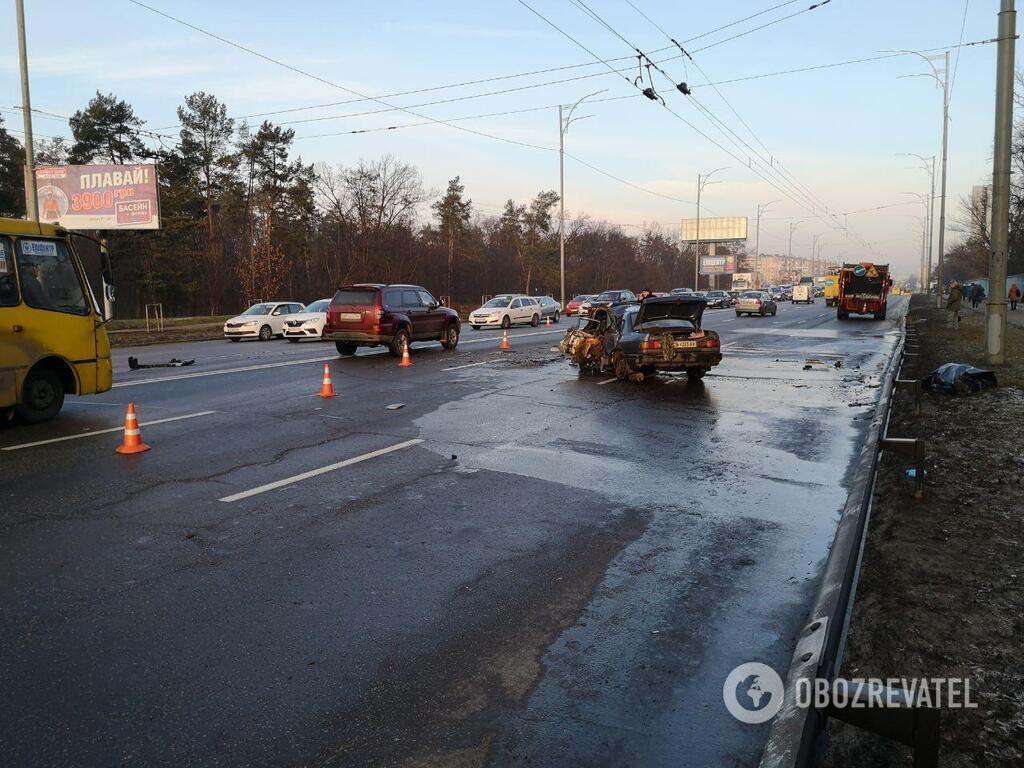 ДТП на ул. Братиславской в Киеве