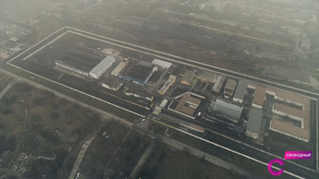 Вид с воздуха на Бердянскую исправительную колонию №77