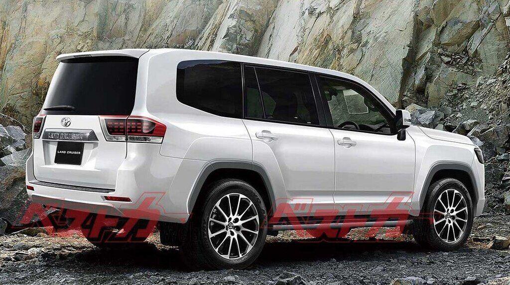 Предполагаемый внешний вид Toyota Land Cruiser 300