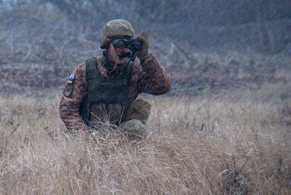 Учения танкистов в зоне ООС