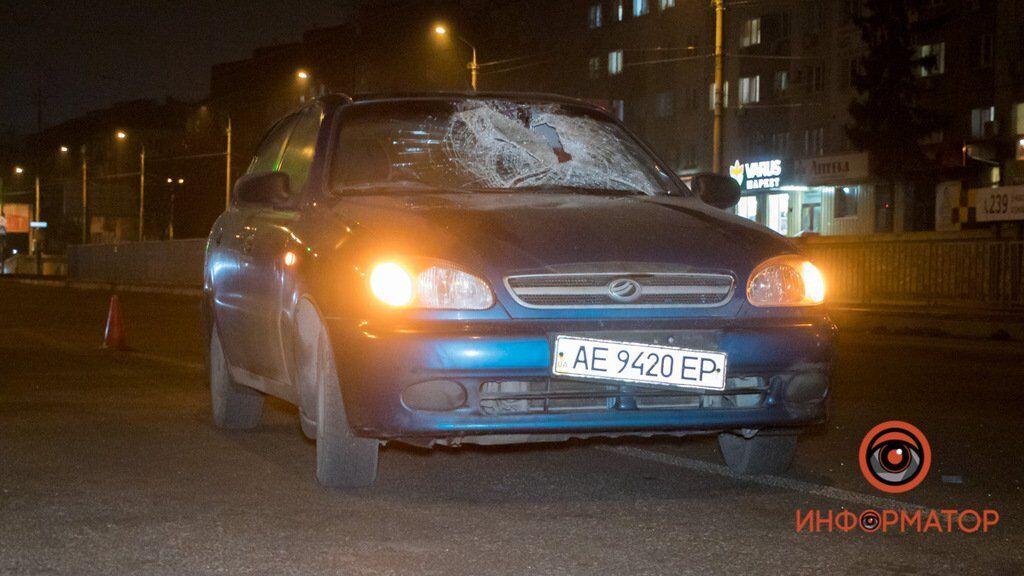 В Днепре водитель Daewoo сбил пешехода
