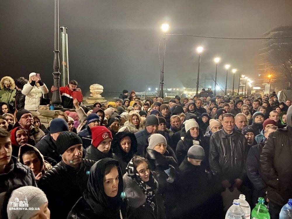 Праздник Крещения в Одессе