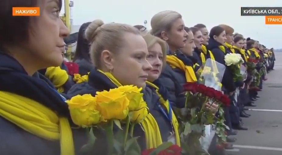 Прощание с погибшими украинцами