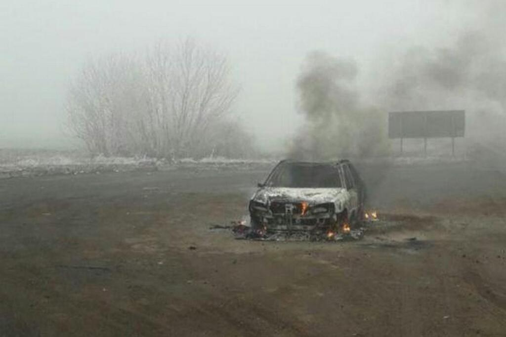 На трассе Днепр – Запорожье сгорел автомобиль