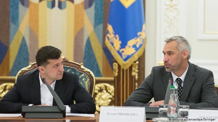 Володимир Зеленський і генпрокурор Руслан Рябошапка