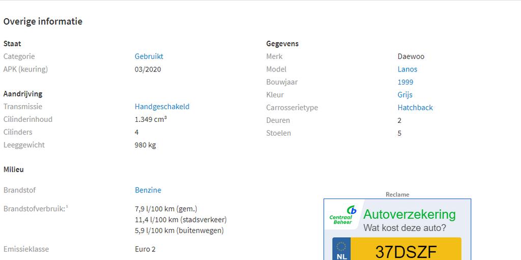 Основное описание Daewoo Lanos за 350 евро