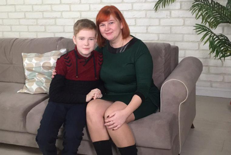 Ваня Лобанов з мамою