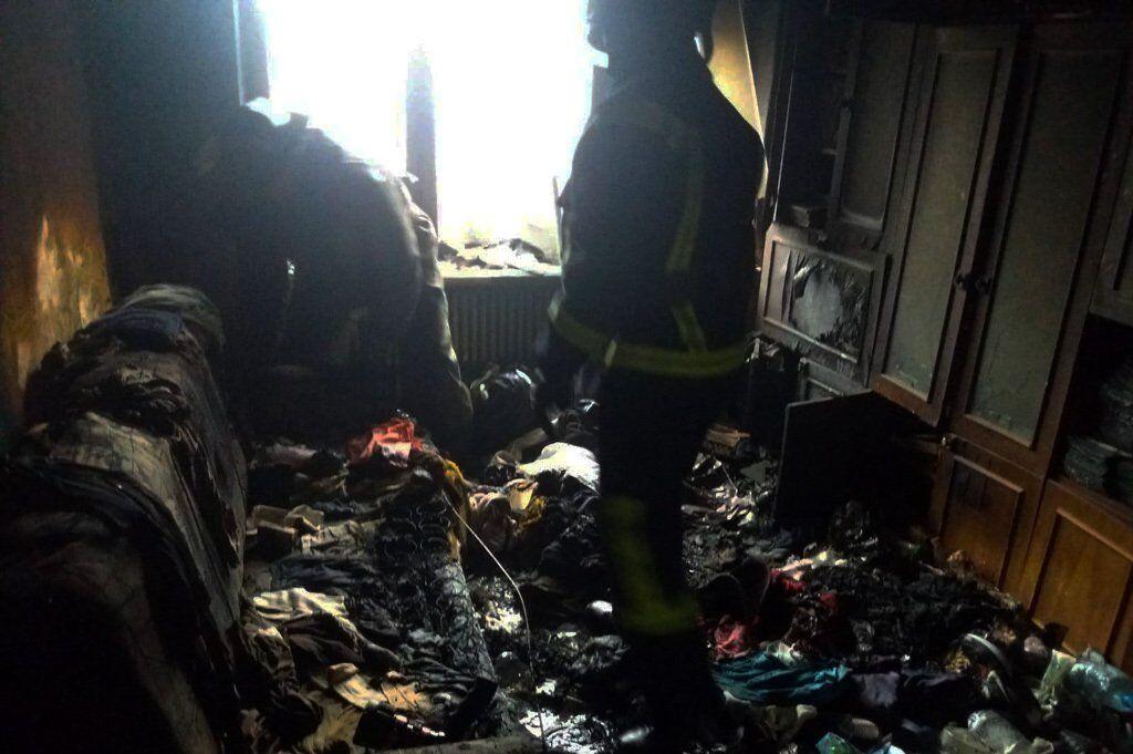 Под Днепром женщина едва не сгорела в собственной квартире