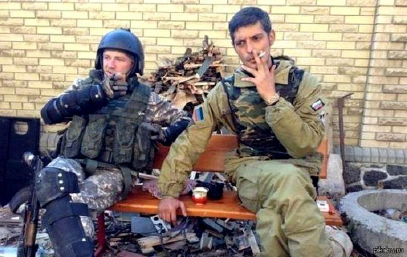 Одиозные командиры боевиков - Моторола (Арсен Павлов) и Гиви (Михаил Толстых). Погибли в 2016 и 2017 г.