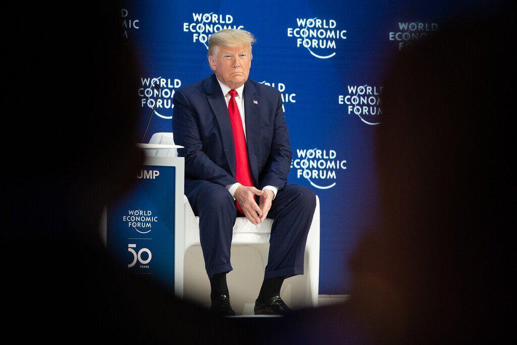 Дональд Трамп на форуме в Давосе