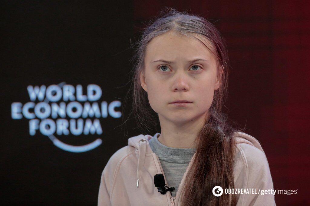 Грета Тунберг выступила в первый день