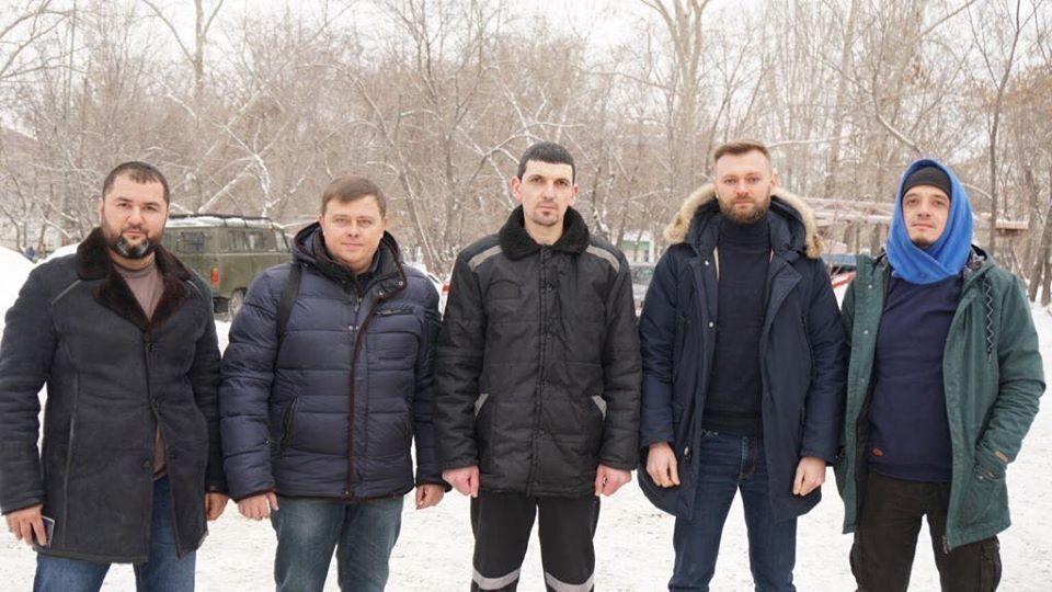 Встреча освобожденного узника Кремля Рустема Ваитова