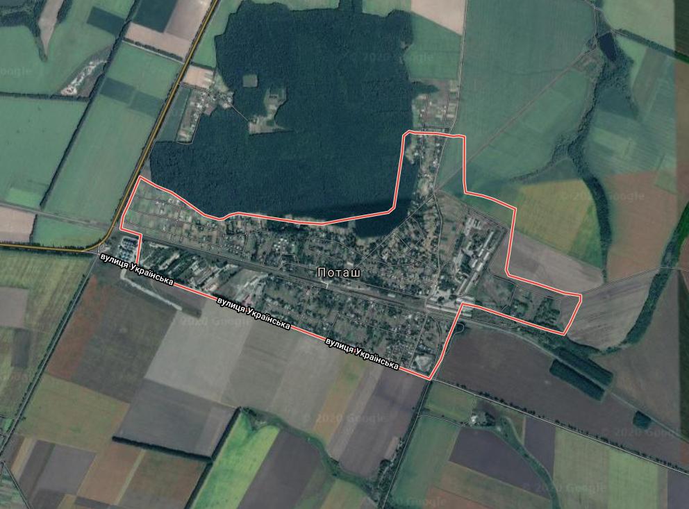 Село Поташ Маньківського арйону на Черкащині, де розташований завод