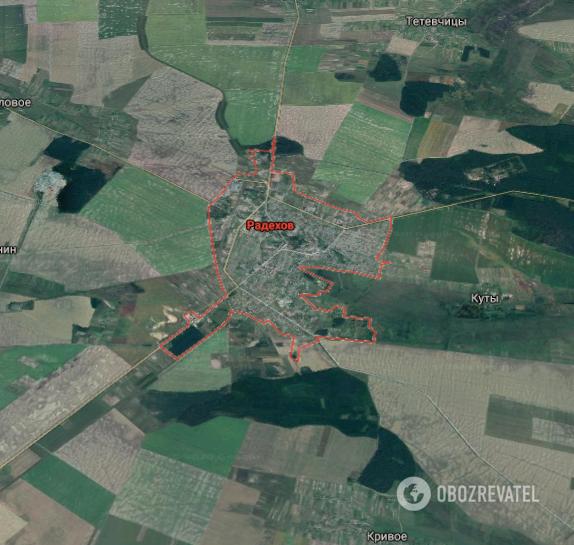 Нападение произошло в Радехове Львовской области