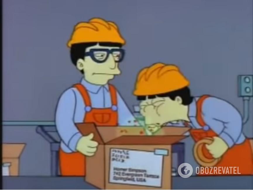 """Кадр из мультсериала """"Симпсоны"""""""