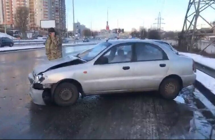ДТП на Саперно-Слободской в Киеве
