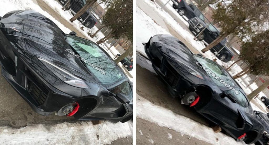 Постраждалий Chevrolet Corvette Stingray 2020