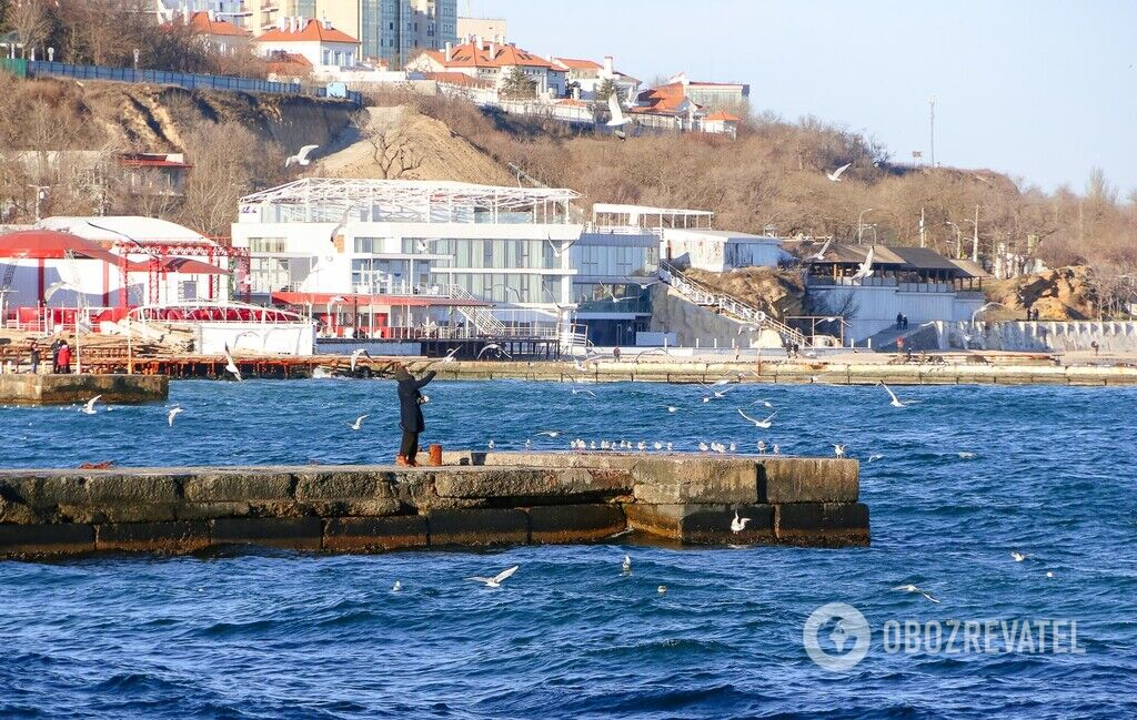 Зима на одесском побережье