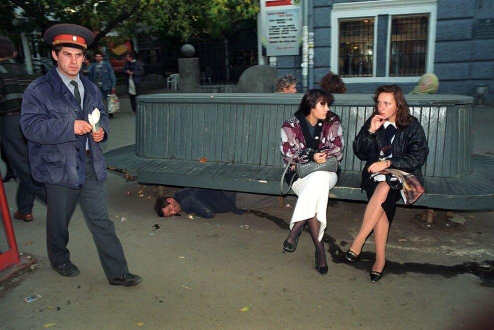 Алкоголики на улицах