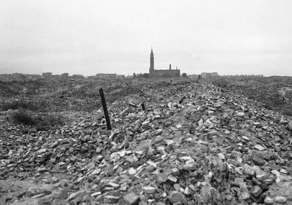 Развалины Варшавского гетто