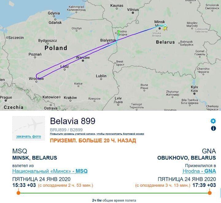 Карта польоту літака