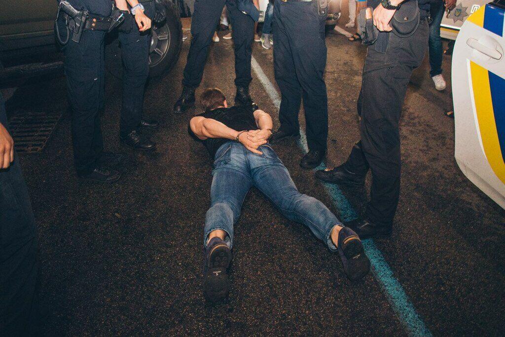 Кирило Островський під час затримання