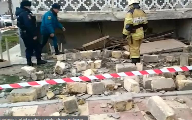 В жилом доме в Махачкале произошел взрыв газа