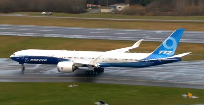 Испытательный полет новейшего Boeing 777X