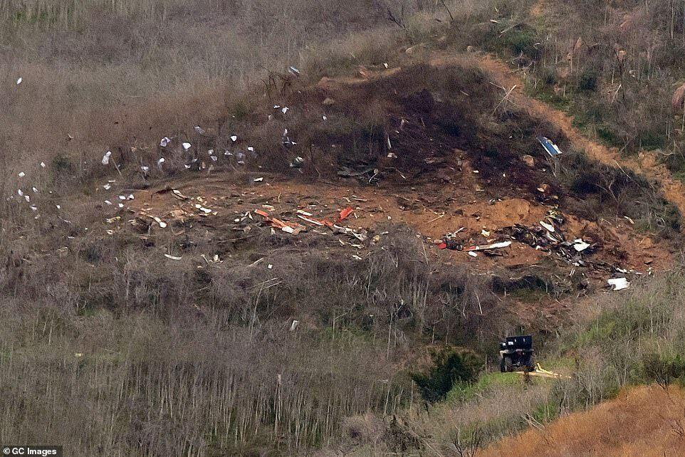 Место аварии вертолета