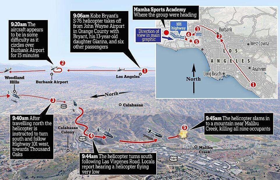 На карте отмечено место крушения вертолета