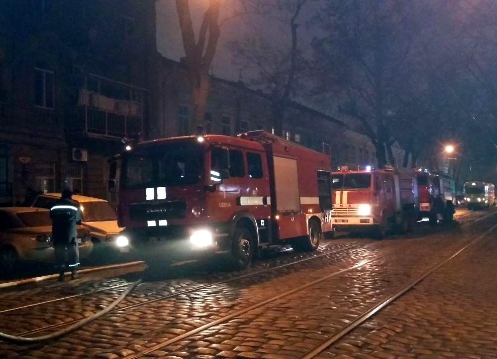 Пожар на улице Нежинской в Одессе, 27.01.20