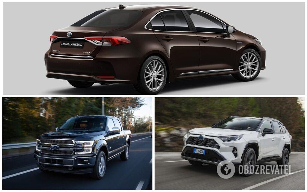 ТОП-3 авто у 2019 році: Toyota Corolla, Ford F-Series, Toyota RAV4