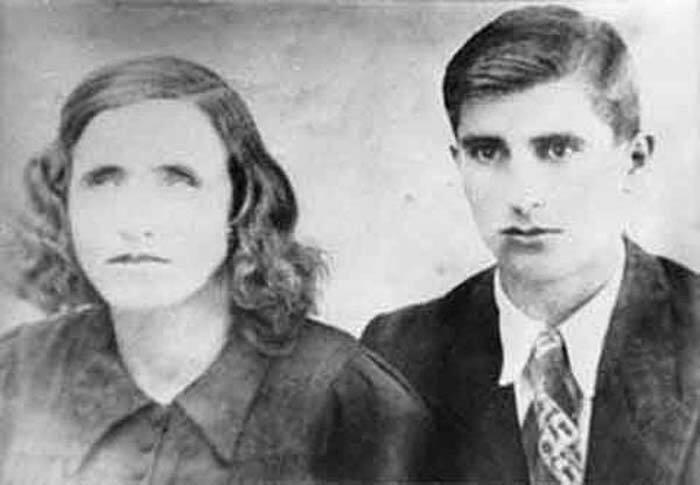 Ванга и ее муж, Димитр Гуштеров