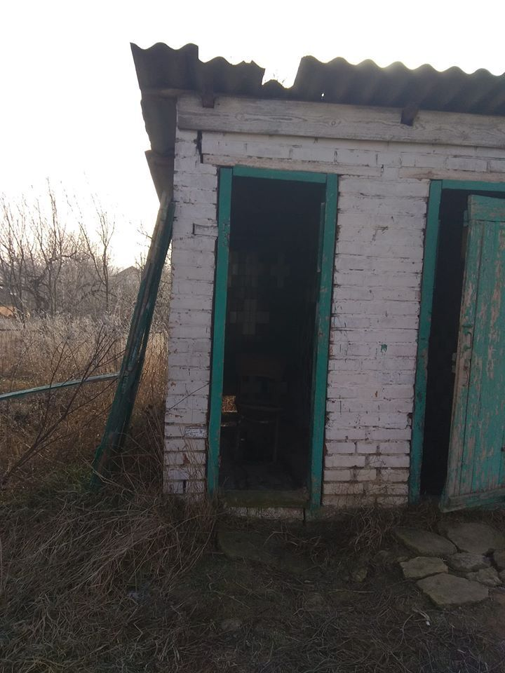 Туалет на території лікарні села Лука-Мелешківська