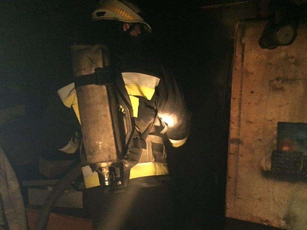 Пожар в ветклинике в Днепре