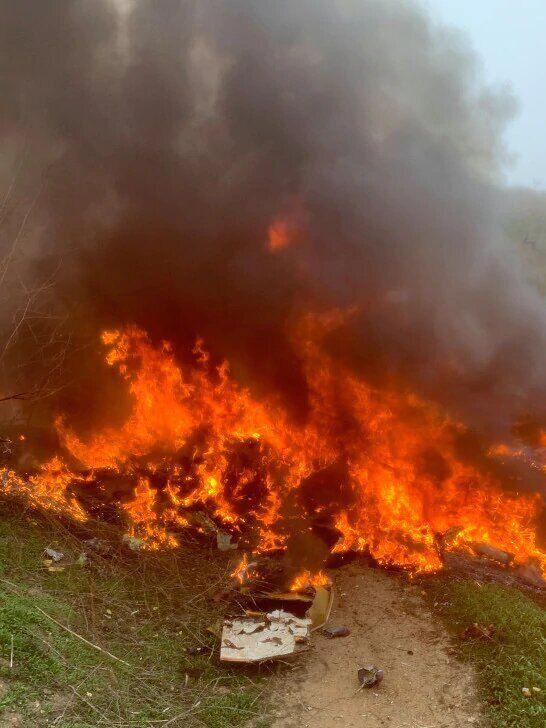 Місце аварії вертольота Кобі Браянта