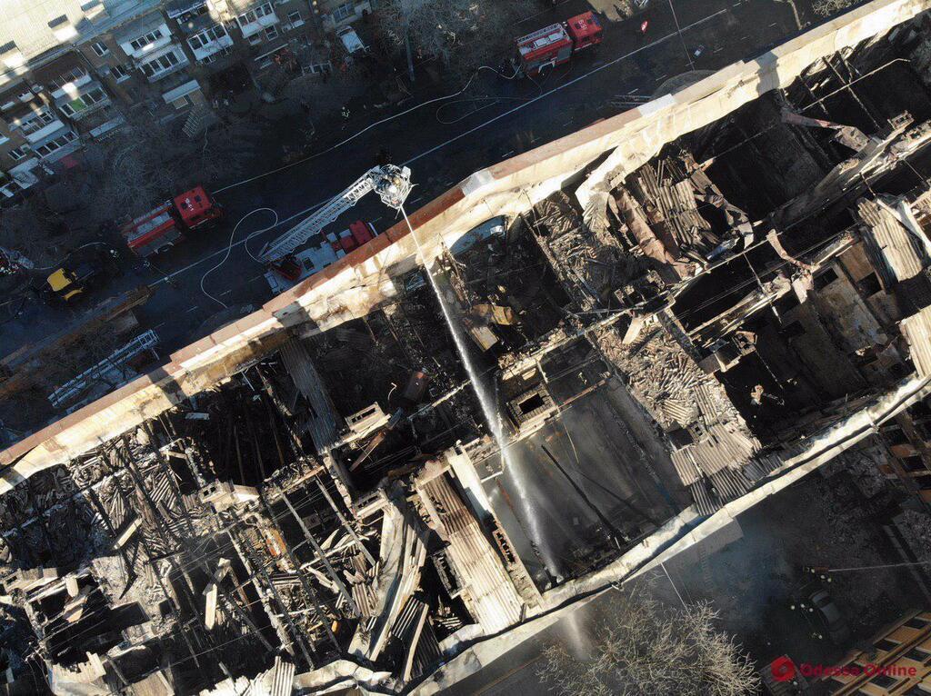 В Одессе дали неутешительный прогноз по сгоревшему колледжу