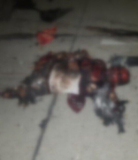 Тело убитого Сулеймани