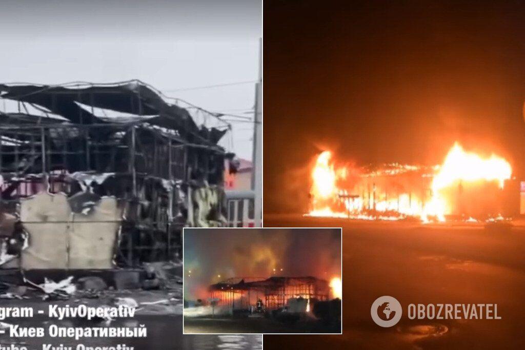 21 октября в сотнях метров от рынка на ул. Драйзера горел магазин-конфискат. Очевидцы говорят, что перед пожаром слышали взрыв