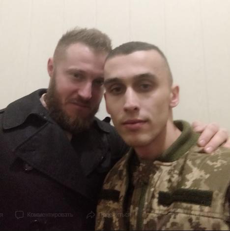 Василий Жемелинский (справа) после возвращения из плена