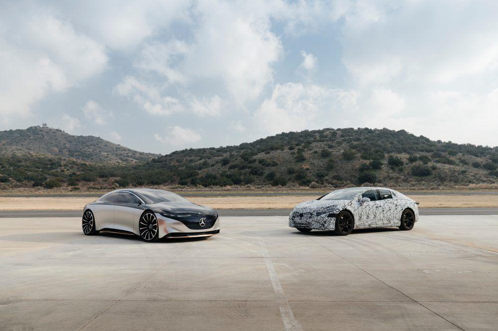 Mercedes-Benz EQS vs Mercedes-Benz Vision EQS