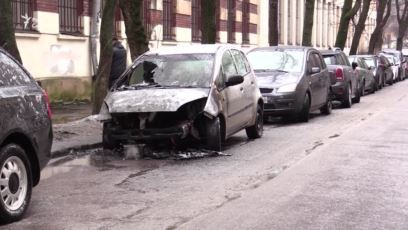 Во Львове сожгли авто журналистки Терещук