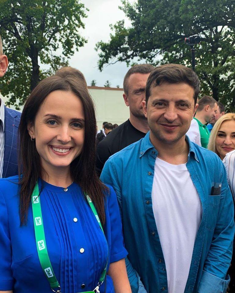 Дарина Володіна та Володимир Зеленський